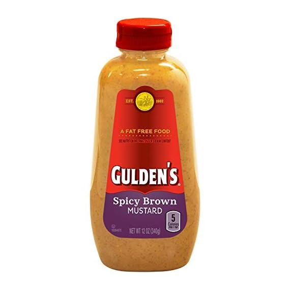 Gulden's Spicy Brown Mustard, 12 Oz 1 Gulden's spicy brown mustard Twelve ounce bottle