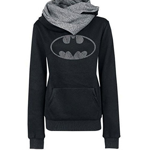 Batman Products : Mother's Day Gift Women Spring Warm Cotton Long Sleeve Coat Top Tees Batman Hoodies Sweatshirts