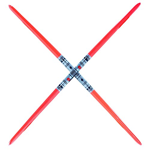 2 Premium - 2-Blade Red Inflatable Light Saber Swords, Lightsaber, Party, Gift, Action Play, Darth Maul (Red 2-Blade)