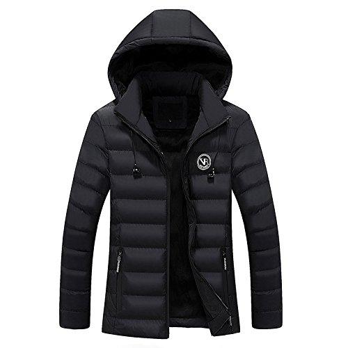 Hgfjn männer - Mode - Pulli, vermummte männer Mode alle treffer Mantel aus warmen Mantel,schwarz,XL