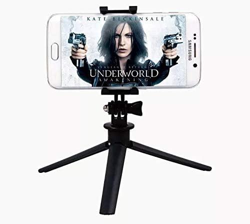 Leoie Mini Portable Tripod Selfie Stick Grip Stand Holder for Camera Phone