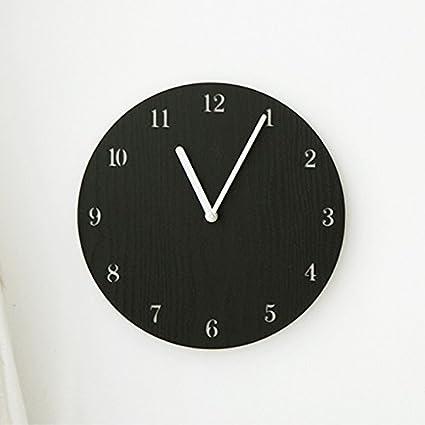 Jedfild Relojes de Pared de Silencio_12 Pulgadas Relojes Relojes Relojes Relojes Moderno Salón de Moda Redonda