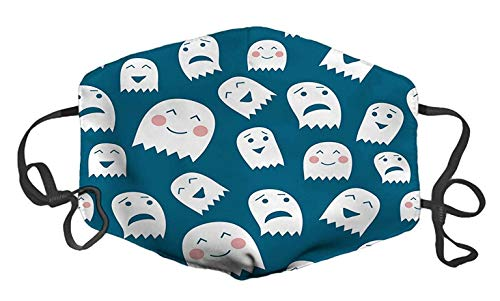 Funny Halloween Ghosts Custom Mouth Mask Anti-Dust Face Mask Adjustable Buckle Face Mask