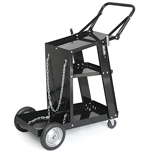 Welding Cart Universal Mig Mag Arc Tig Machine Welders Storage for Tanks Safety