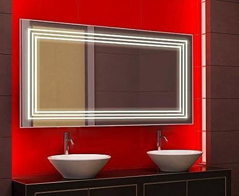 Specchio da bagno con illuminazione led power cm