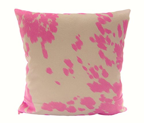 Cowgirl Pillow - Luvfabrics Pillow Cover COW MADNESS Velvet Suede 18