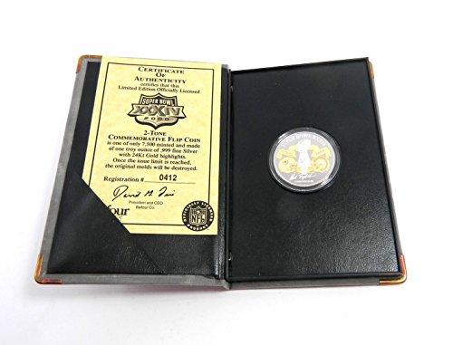 Bowl Super Coin Flip Football - Balfour Sports Super Bowl XXXIV Flip Coin One Rams Troy Oz Silver Coin #/7,500