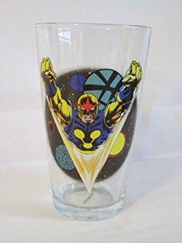 Nova Toon Tumbler 16 Oz. Pint Glass Marvel Comics