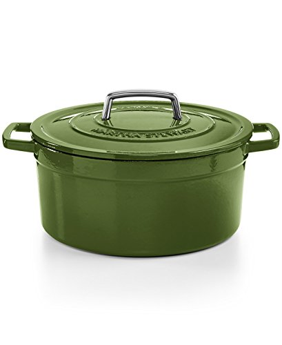 Martha Stewart Enameled Cast Iron Cookware (Martha Stewart Collection Collector's SPINACH Green Enameled Cast Iron 6 Qt. Round Casserole Dutch Oven)