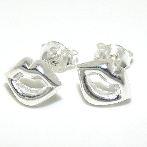 """Pro Jewelry .925 Sterling Silver """"Lips"""" Stud Earrings for Women & Children 22"""