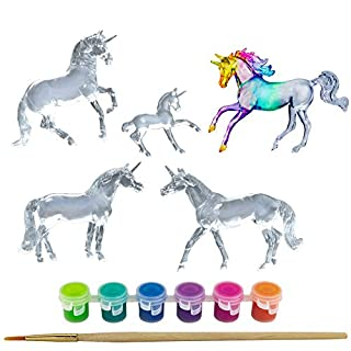 Breyer Stablemates Suncatcher Unicorn Craft Set | 5 Piece Set | 1:32 Scale | Model #4220