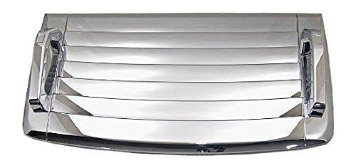 Chrome Vent (Hummer H3 Triple Chrome Hood Deck Vent Cover with Chrome Hood Handles (Fits: 2006-2010 Hummer H3 & H3T's))