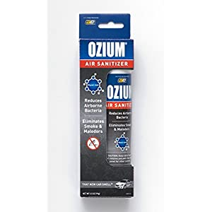 Ozium Glycol-Ized Professional Air Sanitizer / Freshener New Car Scent, 3.5 oz. aerosol (OZM-22)