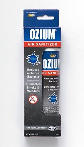 Ozium Glycol-Ized Professional Air Sanitizer / Freshener New Car Scent, 3.5 oz. aerosol -