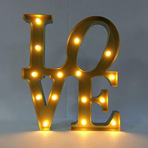 Eeayyygch Hochzeitsdekoration & LED Brief Lichter & Fotografie dekorative Lichter & Festival Licht & Szene Licht, Liebe (auf und ab) (Farbe   Love (up and down), Größe   -)