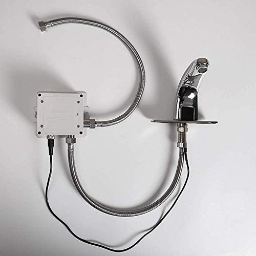 Zxyan 蛇口 立体水栓 銅クロムメッキ誘導流域の蛇口洗面台洗面台浴室キャビネットの蛇口美しく、耐久性のあります トイレ/キッチン用