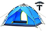 AUGYMER Waterproof 2-3 Person Camping Tents, Portable Camping Automatic Family Tent/Backpacking Sun Shelter Tents With Carry Bag For Camping Outdoor Hiking