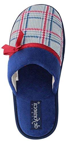 DE FONSECA ciabatte pantofole invernali da donna mod. BARI TOP W42 BLU