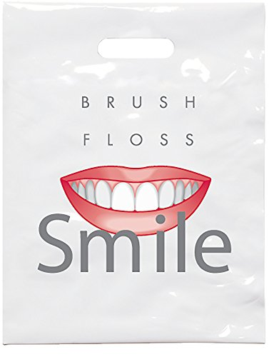 """Practicon 1109631 Brush Floss C Patient Care Bags, 9"""" x 12"""" (Pack of 100)"""