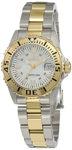 Invicta Women's 6895 Pro-Diver Stainless Steel 18k Yellow Gold-Plated and Mother-of-Pearl Bracelet Watch ()