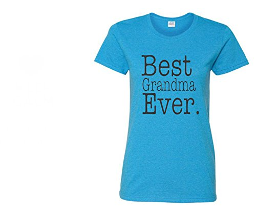 Uink Keep Best Grandma Ever Women's T-shirt Missy Fit- Short Sleeve,Heather Sapphire,Large (Best Grandma Womens Cap)