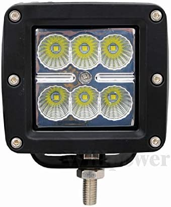 Willpower LED Light Bar 2Pcs 3 inch 18W Spot Cube LED Work Light Pod Offroad Light Led Fog Light Truck Light Driving Light Boat Light for Truck Pickup SUV ATV UTV Waterproof