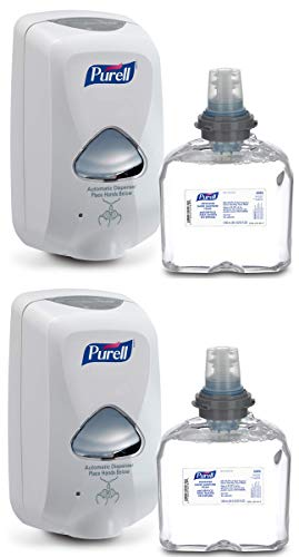 Purell FBFAK Advanced Hand Sanitizer Foam TFX Starter Kit, 2 Sets (Dispenser + Foam Refill)