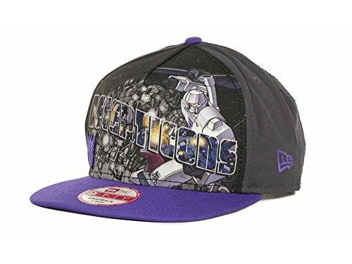 Marvel Transformers Men's Decepticons Hero Post New Era 9FIFTY Snapback Hat Cap - Black/Purple