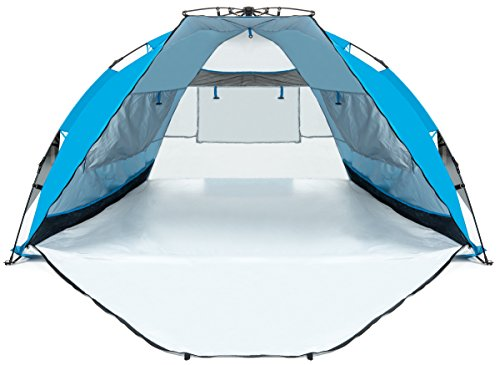 Extra Large Beach Tent With Privacy Door. Quality Beach Shade Sun Canopy with UV Protection. Sports u0026 Outdoors  sc 1 st  Amazon.com & Amazon.com: NEW ARRIVAL! Extra Large Beach Tent With Privacy Door ...