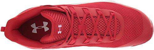 Jet Hombre De Ua Mid Under Baloncesto Rojo Armour white red Zapatos Para q8TTEx