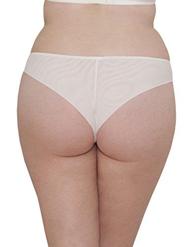 Curvy Kate Luxe Brazilian, Braguita para Mujer blanco roto (marfil)