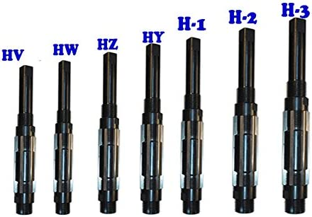 "1//4/"" - 15//32/"" 7 Pcs Adjustable Hand Reamer Set HV to H3 Premium Quality"