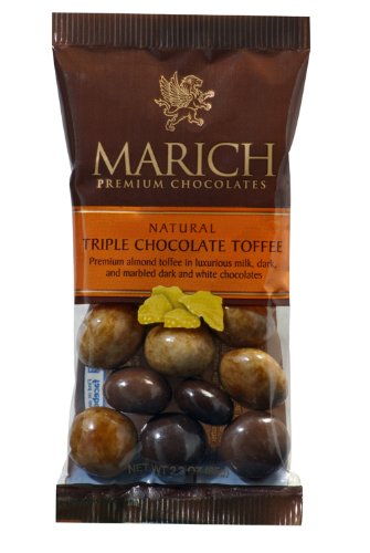 Marich Triple Chocolate Toffee 2.3oz (12-pack) by Marich
