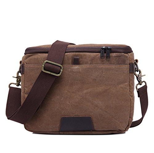 multi-funzione di borsa da uomo Sucastle borsa a tracolla del messaggero borsa di tela Sucastle Colore: colore marrone formato: 30x21x12cm