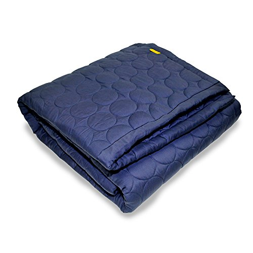 RADIANCE Radishine Heated Electric Mattress Pad, Queen Size, Deep Blue