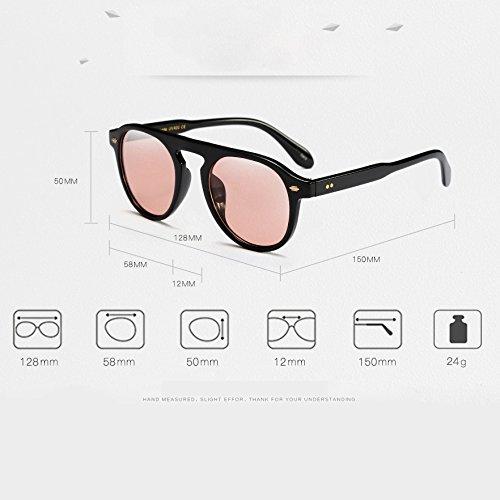 pour 9 stylées Mode soleil Unisex Feicuan UV400 Cadre de noir Protection F Lunettes Lunettes Homme Femme rond wAqnav