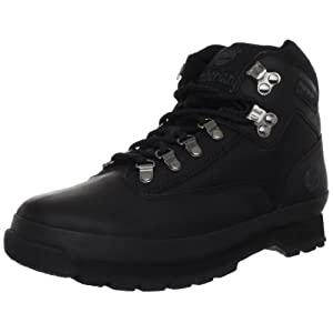 Timberland Men's Euro Boot,Black Smooth,10 M US