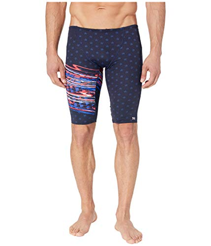 - TYR Men's Victorious Jammer Swim Briefs Red 36