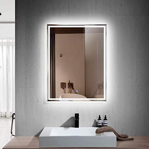 Led Illuminated Backlit Wall Mount Bathroom Vanity Mirrors Dp Home Large Horizontal Rectangle Mirror E N031 D Hotel Office Bar Mirror 55 X 28 Inch Tools Home Improvement Kitchen Bath Fixtures