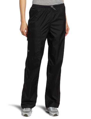"White Sierra Women's Trabagon Rain Pants - 31"" inseam, Black, Small"