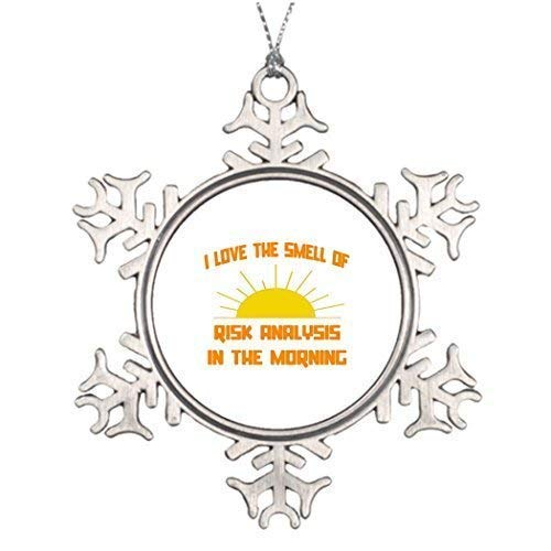 (wonbye Christmas Ornaments 2018, Actuary Humor Statistician Personalised Decoration Personalized Snowflake Ornament Pattern Metal Snowflake Tree)