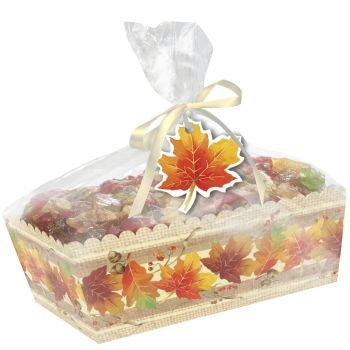 Autumn Paper Loaf Pan w/Cello Wrap 2 Per Pack