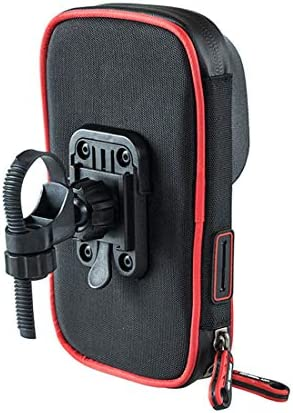 YIKETING 防水携帯電話自転車ハンドルバー&オートバイマウントホルダークレードル、360°回転スマートフォン最大6フィートまで (色 : レッド)