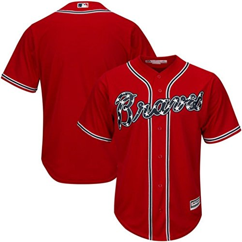 Authentic Cool Base Jersey - VF Atlanta Braves MLB Mens Majestic Cool Base Replica Jersey Red Big & Tall Sizes (3XT)