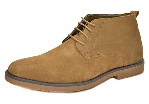 Bruno Marc Men's Chukka Tan Suede Leather Chukka Desert Oxford Ankle Boots - 8.5 M US