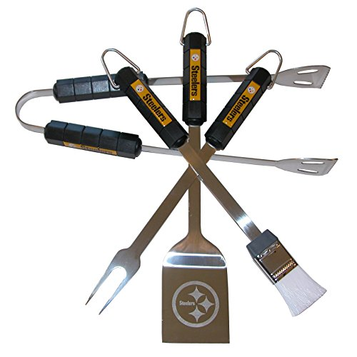 NFL Pittsburgh Steelers 4-Piece Barbecue Set