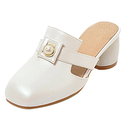 Closed Mujer Mulas TAOFFEN White Toe Moda q4wC7B