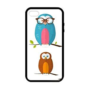 SUUER Custom Lovely Funny Owl Personalized Custom Hard Case for iPhone 4 4s Durable Case Cover