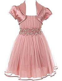 Aki_Dress Flower Girl Spaghetti Strap Style Bolero Skirt Set