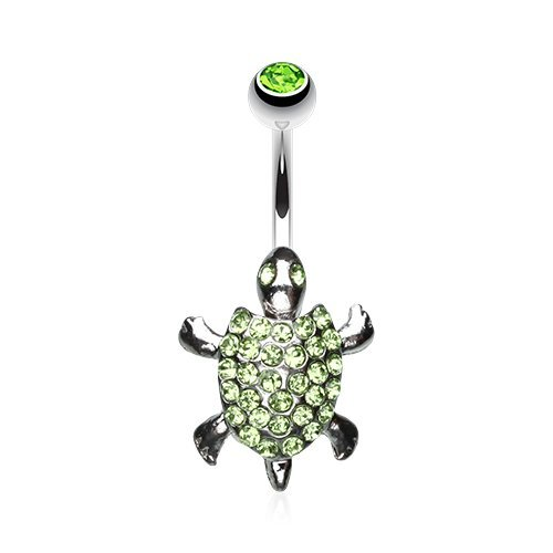 Adorable Turtle (Adorable Turtle Belly 316L Surgical Steel Belly Button Ring)